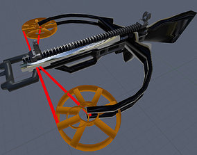 Crossbow With Working Ironsights And RailMount 3D asset