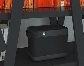 3D model Black bluetooth speaker H189 x W230 x D135mm