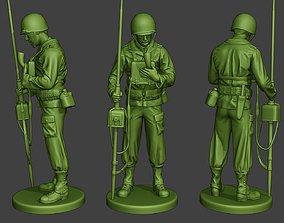 3D printable model American engineer soldier ww2 Talk 1
