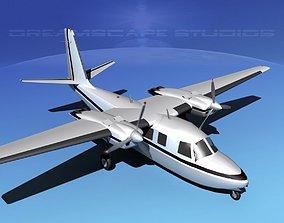 Rockwell Aero Commander 560 V04 3D model