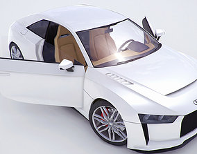 3D model Audi Quattro concept coupe 2010version