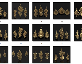 3D print model 19 PENDANT EARRINGS SET NOKTA TURKY MESH 1