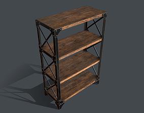 Industrial Style Bookshelf 3D asset