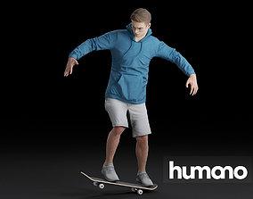 3D model Humano Skateboarding Man 0811