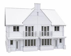 3D asset Neighborhood Houses P07