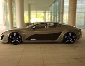 3D model Affekta Shayleen Concept Sport Car and ExtraWheel