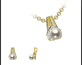 3D print model Elegant gold pearl pendant types of jewelry
