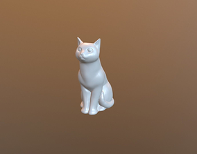 3D printable model Sitting cat