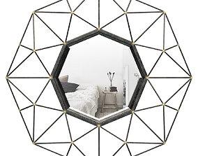 Coll Round Metal Wall Mirror MCRW5888 3D model