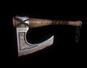 3D asset Viking Axe