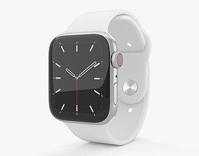 3D model Apple Watch Series 5 44mm Silver Aluminum Case 2