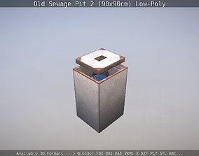 Old Sewage Pit 2 90x90cm Low-Poly 3D asset