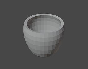 Cubic Glass or Pot 3D print model