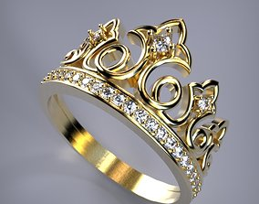 3d 3D print model Crown ring