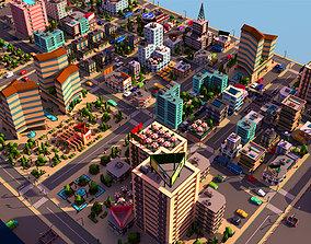 3D asset Simple City