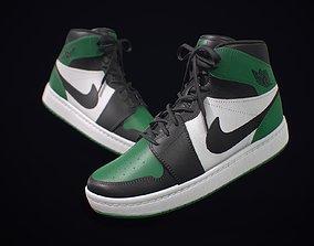 3D asset Sneaker Nike Air Jordan Green White