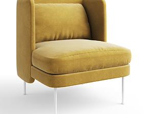 3D Bloke Velvet Lounge Chair
