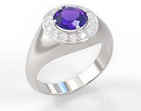 Halo Engagement Ring 3d 3D print model