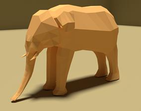 3D model low-poly Elephant art
