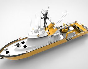 Yellow Coastguard 3D