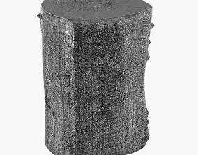 Log Stool tree trunk by Jason Philips 3D model