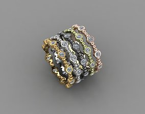 new trend gold and silver rings 3D print model design