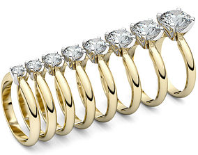 3D print model Set from Eight Solitaire Ring