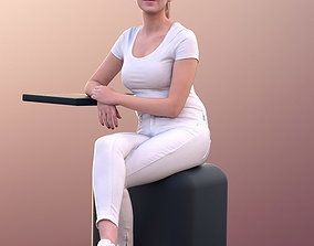 3D model Elena 10670 - Female Doctors Assistant Sitting