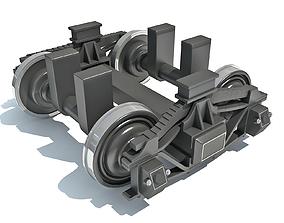 undercarriage 3D model Train Wheels