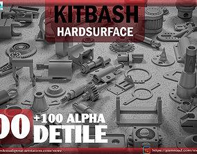 3D model 400 HARDSURFACE DETILS-100 ALPHA