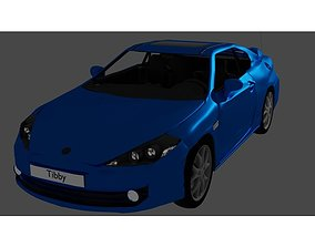 3D Hyundai Tiburon Coupe Car 2007-2009