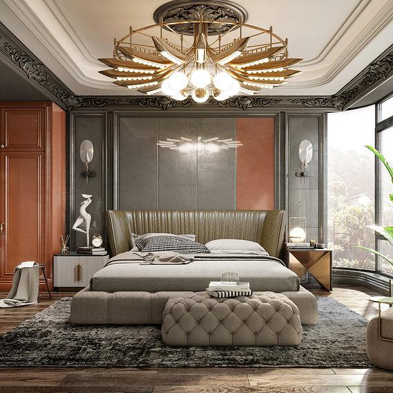 Russian style bedroom