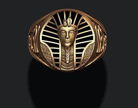 Pharaoh ring with enamel 3D printable model