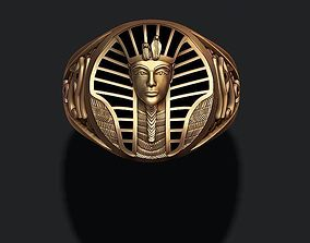 Pharaoh ring with enamel 3D printable model