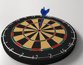Dartboard and Dart 3D model