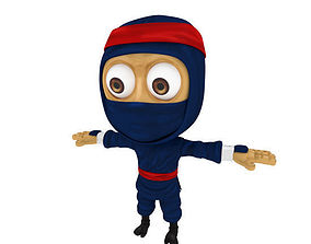 3D asset Cartoon ninja
