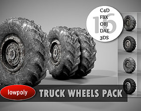 Truck Wheels Pack 3D model
