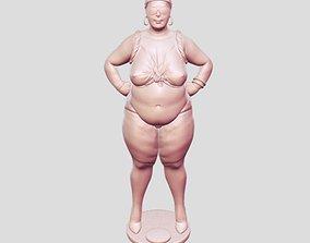 woman fat 3D print model