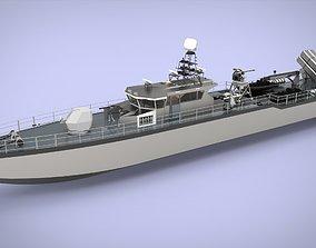Fast Patrol Boat 40 3D asset