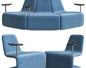Anne Linde URBAN LOUNGE WITH TABLE 3D model