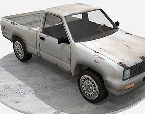 3D asset game-ready Pick up truck