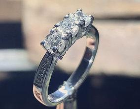 3D print model Women Trilogy Ring For Wedding Anello 1
