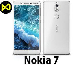 3D model Nokia 7 Matte White