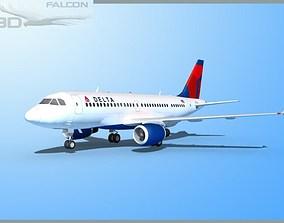 Falcon3D A319 Delta rigged