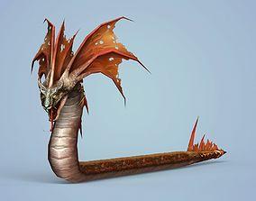 3D asset Fantasy Monster Snake