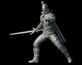 Geralt Witcher3 miniature 54mm scale 3D model