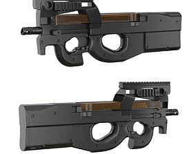 Submachine gun FN P90 3D model duty