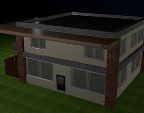 residential-building family 3D Modern house