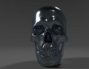 Chrome skull 3D model