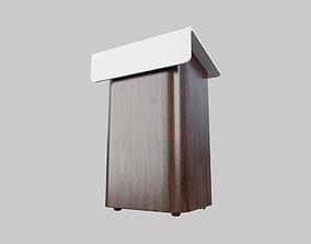 3D asset Elegant pulpit
